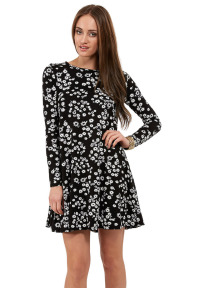 Ella Daisy Print Swing Dress