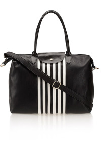 جينجر Flap Over Striped Shopper